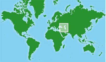 Mapa de Armenia y Georgia