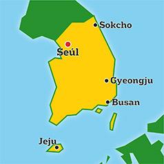 Mapa de Corea Del Sur