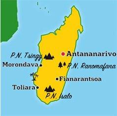 Mapa de Madagascar