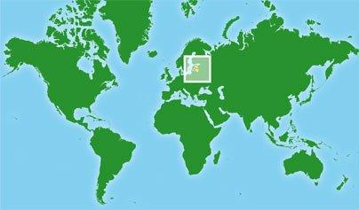 Mapa de Países Bálticos