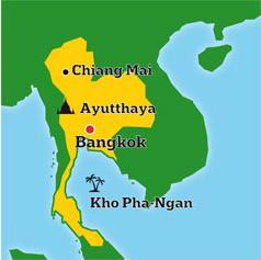 Mapa de Tailandia