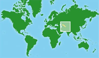 Mapa de Uzbekistan